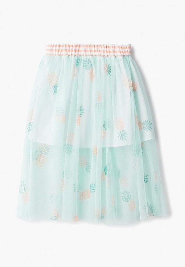 юбка смена для девочки, зеленая