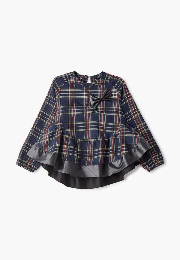 рубашка lika dress для девочки, синяя