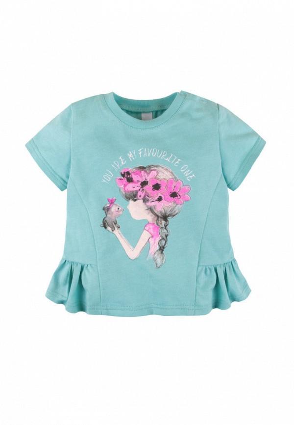 футболка с коротким рукавом bossa nova для девочки, бирюзовая