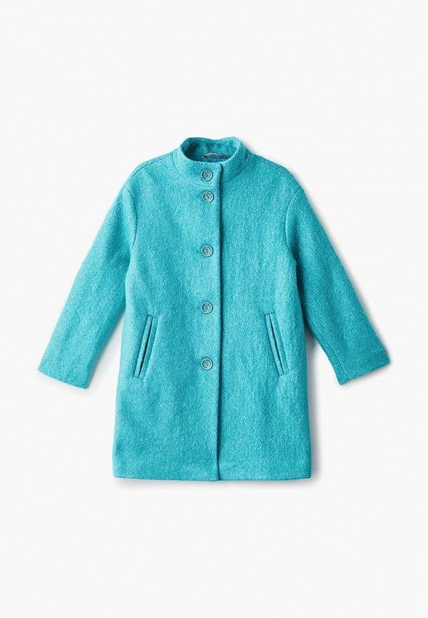 пальто saima для девочки, бирюзовое