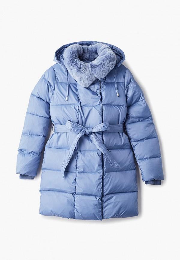 куртка kiwiland для девочки, голубая