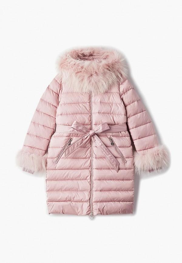 куртка kiwiland для девочки, розовая