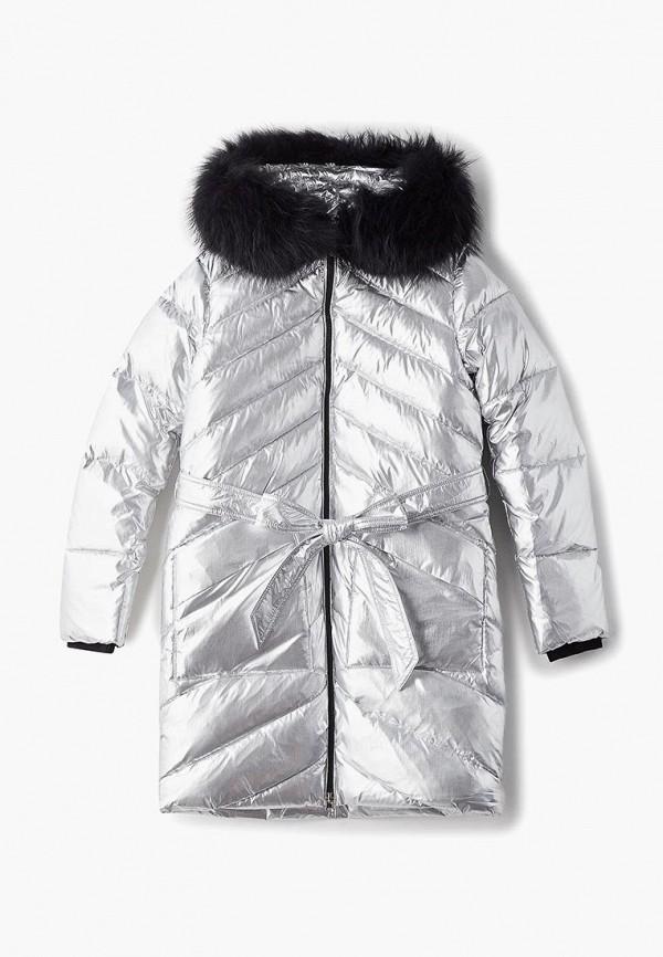 куртка kiwiland для девочки, серебряная