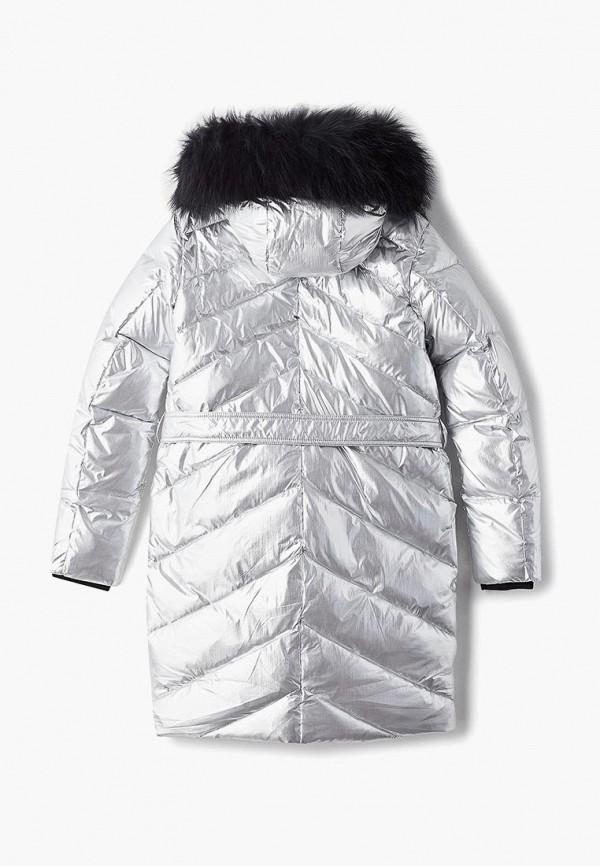 Куртка для девочки утепленная Kiwiland цвет серебряный  Фото 2