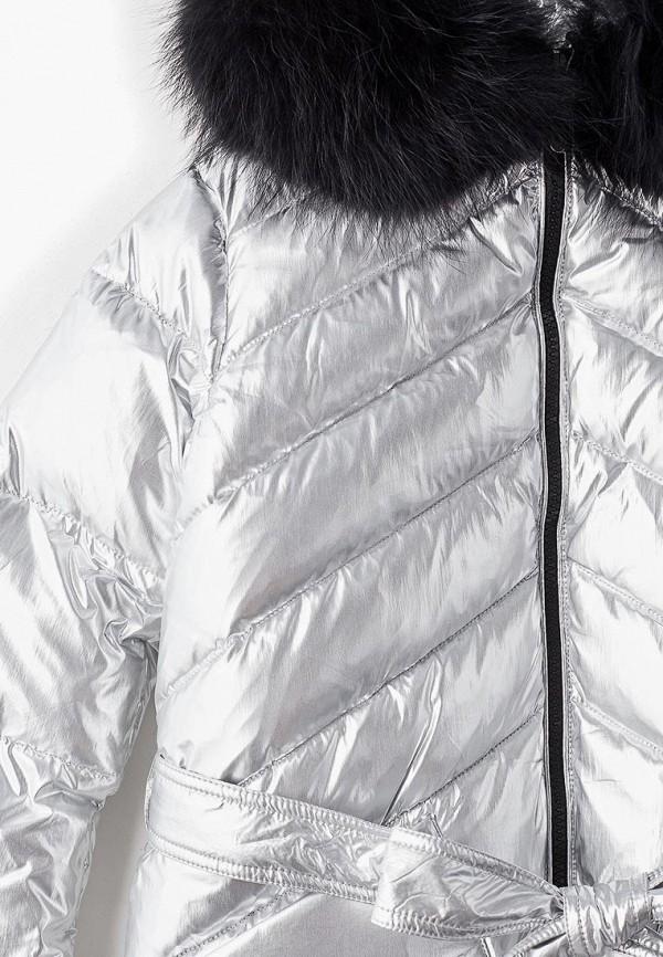 Куртка для девочки утепленная Kiwiland цвет серебряный  Фото 3