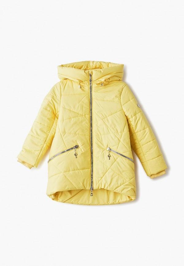 куртка mes ami для девочки, желтая