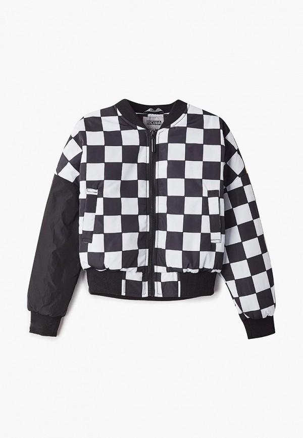 куртка rionakids для девочки, черная