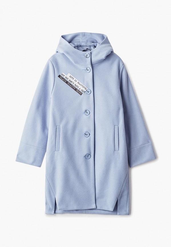 пальто rionakids для девочки, голубое