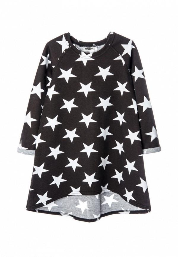 повседневные платье кузя для девочки, черное