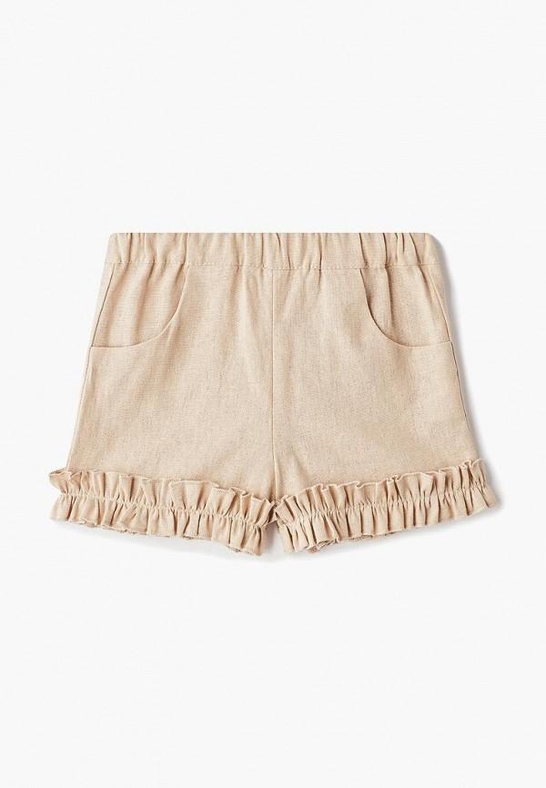 шорты bubble's magic для девочки, бежевые
