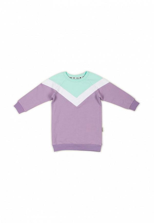 повседневные платье bodo для девочки, фиолетовое