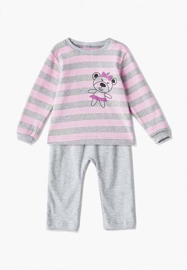 пижама лапушка для девочки, серая