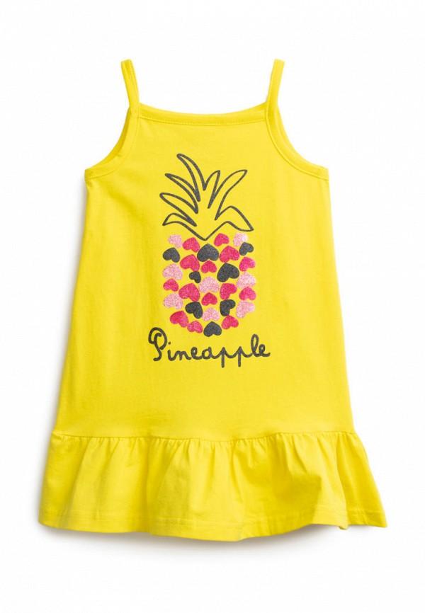 повседневные платье playtoday для девочки, желтое