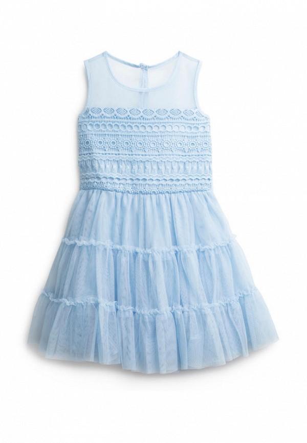 повседневные платье playtoday для девочки, голубое