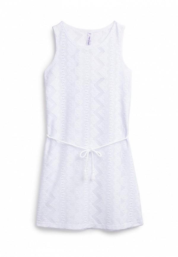 повседневные платье playtoday для девочки, белое