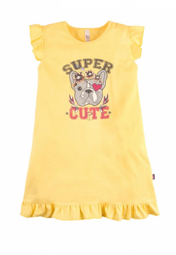 сорочка ночная bossa nova для девочки, желтые
