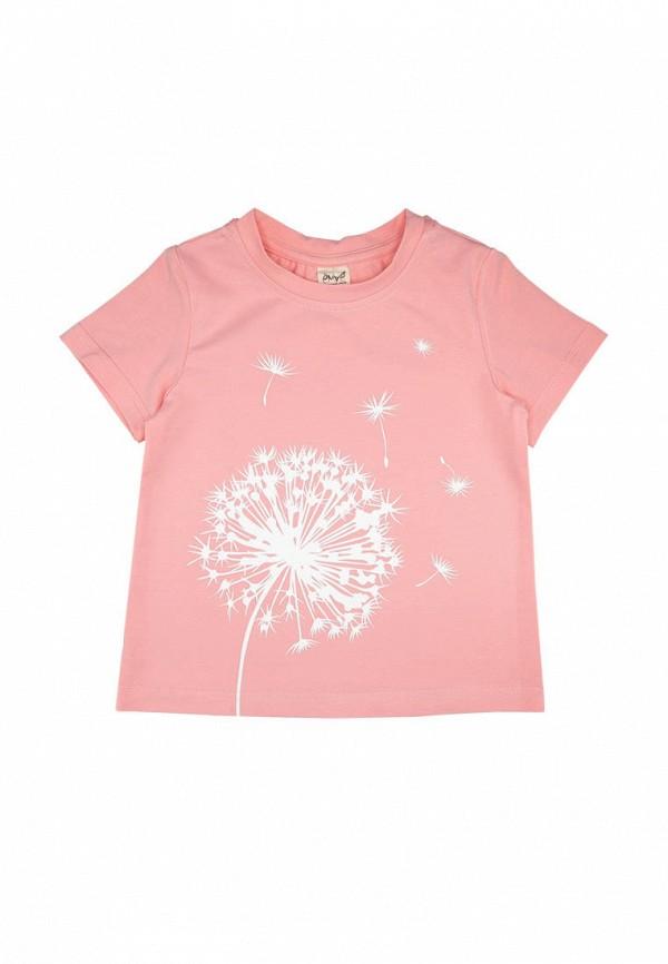 футболка с коротким рукавом ёмаё для девочки, розовая