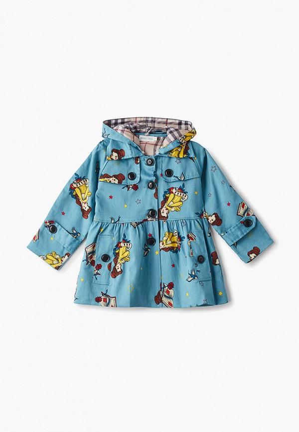 пальто moon river для девочки, голубое