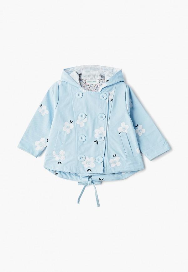 куртка moon river для девочки, голубая