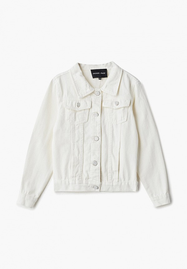 джинсовые куртка moon river для девочки, белая