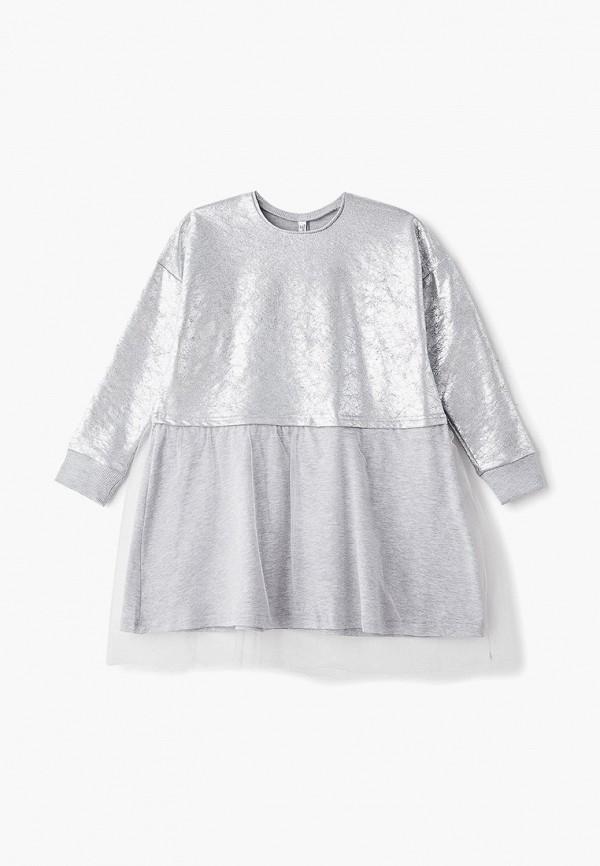 платье tforma для девочки, серебряное