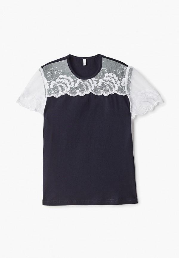 футболка с коротким рукавом tforma для девочки, черная