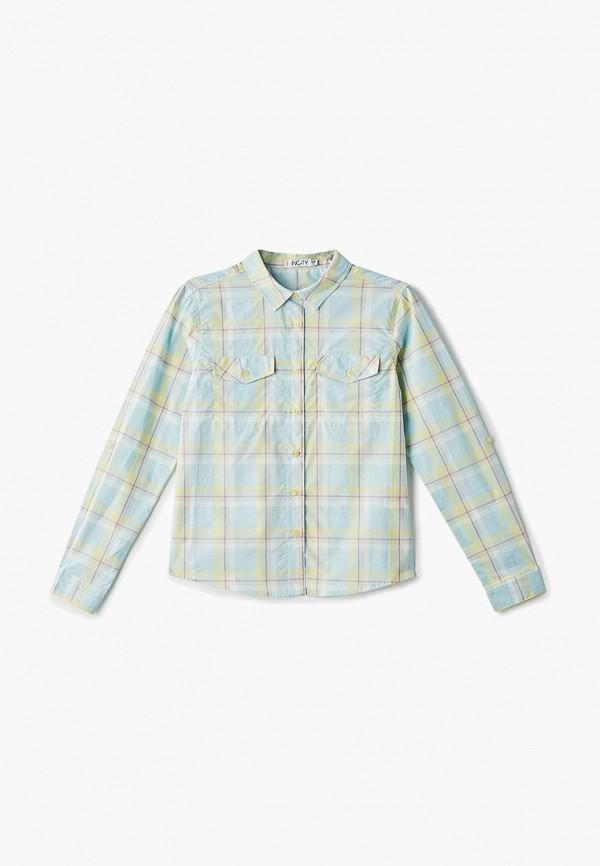 рубашка incity для девочки, зеленая