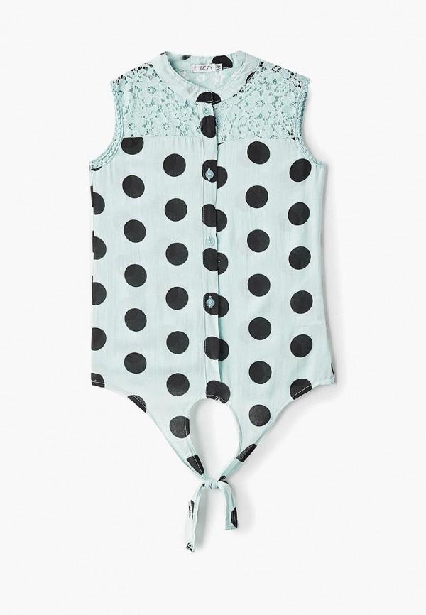 блузка incity для девочки, бирюзовая