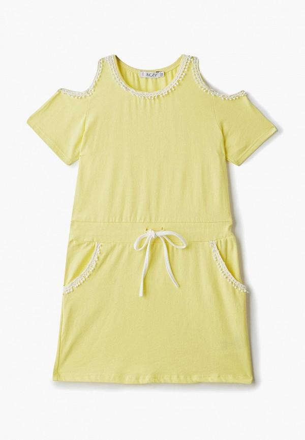 повседневные платье incity для девочки, желтое