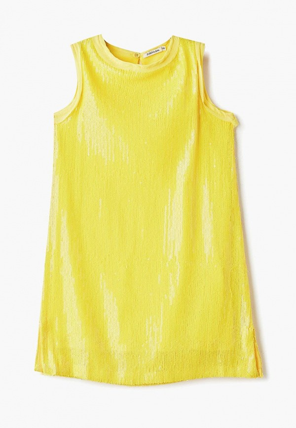 повседневные платье zarina для девочки, желтое