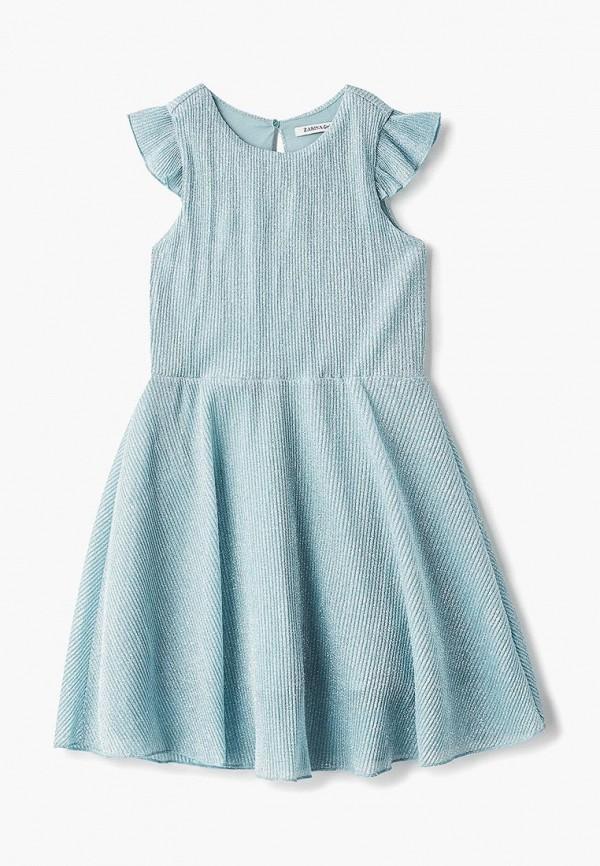 платье zarina для девочки, зеленое