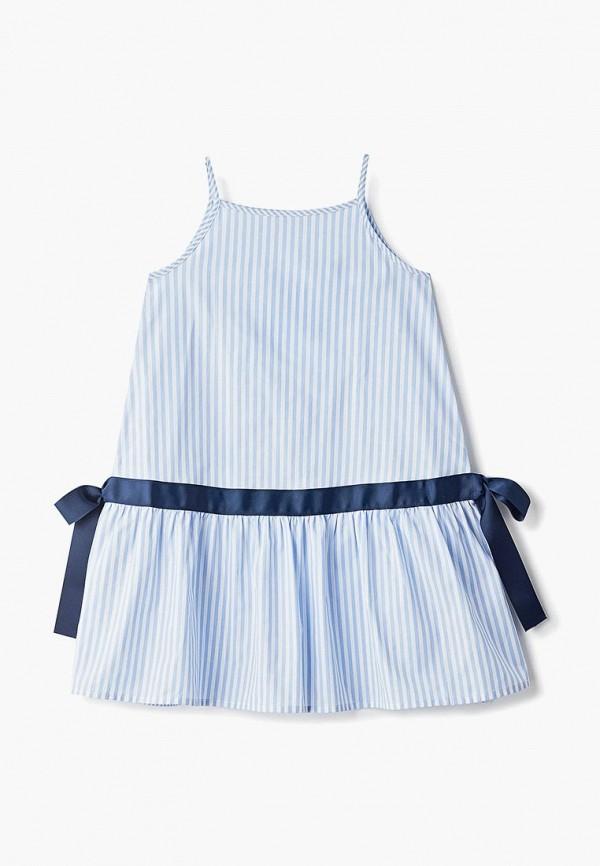 повседневные платье zarina для девочки, голубое