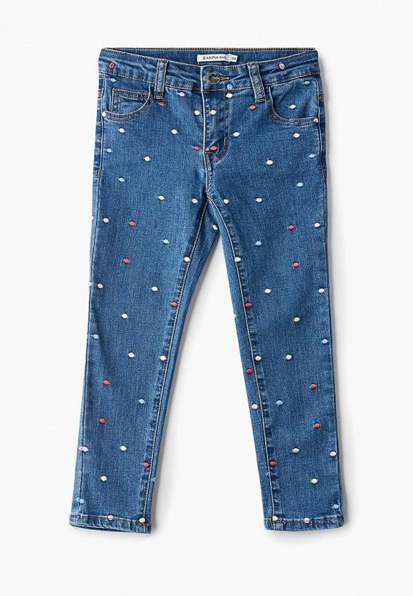 джинсы zarina для девочки, голубые