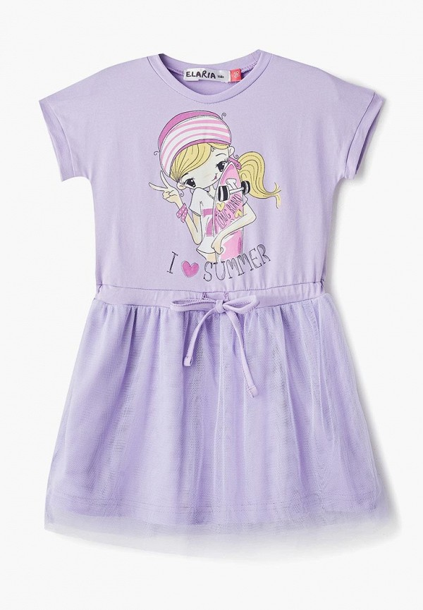 повседневные платье elaria для девочки, фиолетовое