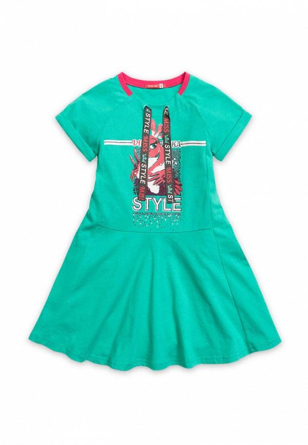 повседневные платье pelican для девочки, зеленое
