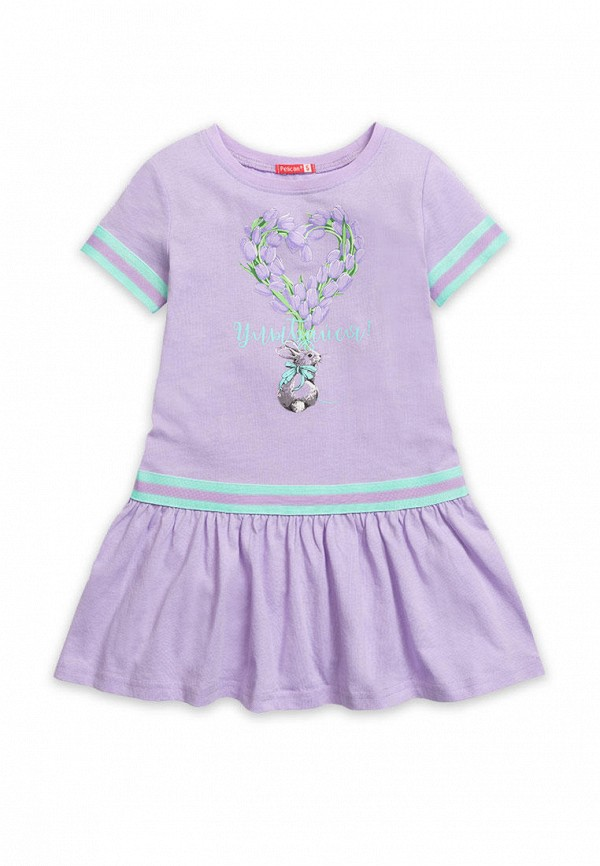 повседневные платье pelican для девочки, фиолетовое
