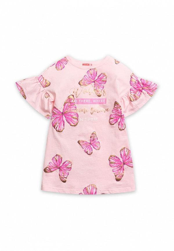 повседневные платье pelican для девочки, розовое