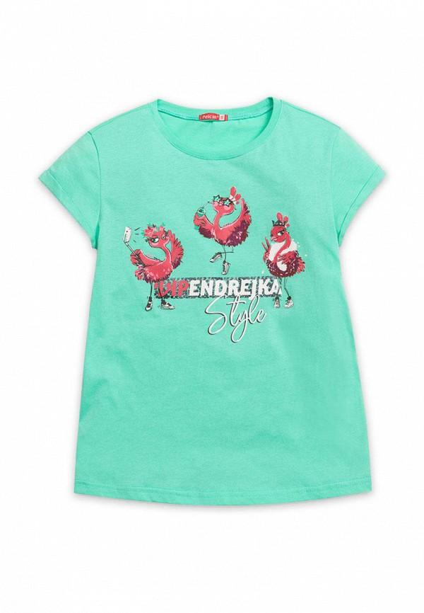 футболка с коротким рукавом pelican для девочки, бирюзовая