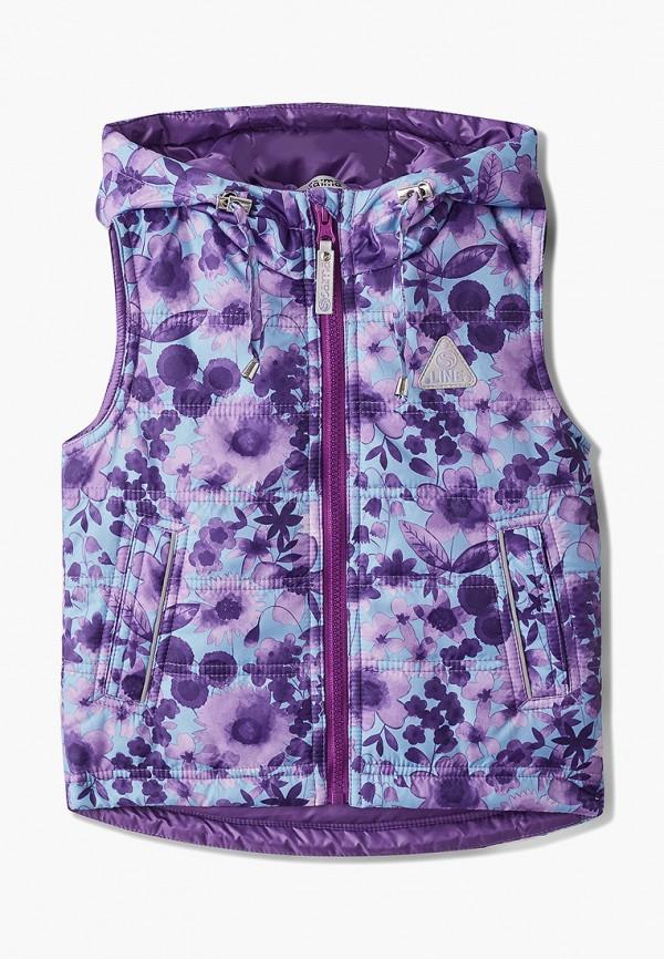 жилет saima для девочки, фиолетовый