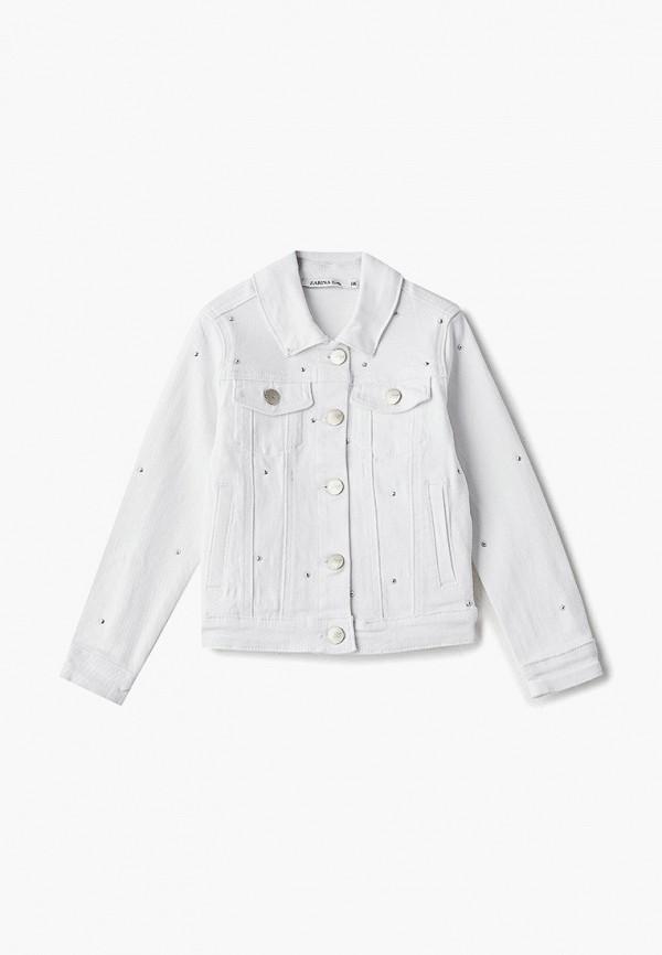 джинсовые куртка zarina для девочки, белая
