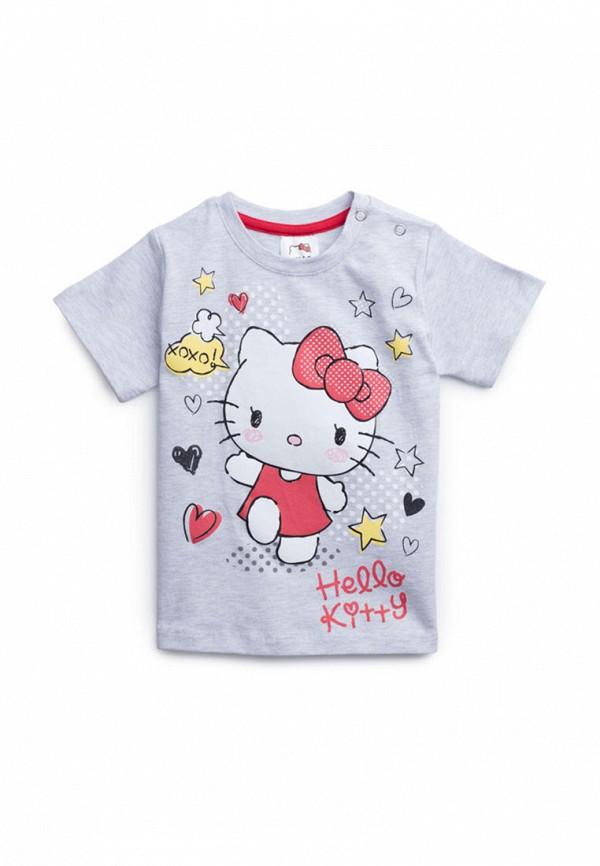 футболка playtoday для девочки, серая