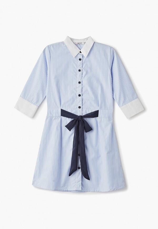 повседневные платье incity для девочки, голубое