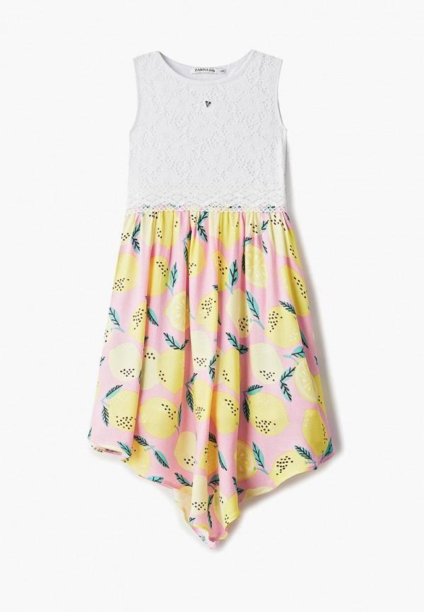 повседневные платье zarina для девочки, разноцветное