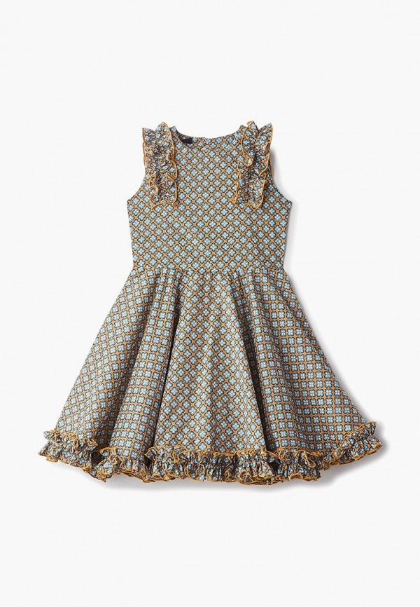 повседневные платье archyland для девочки, коричневое