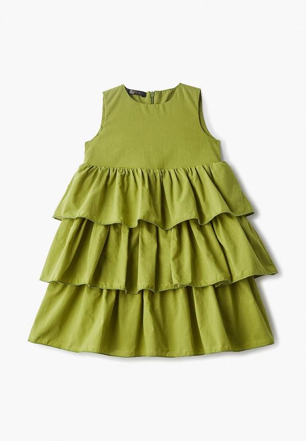 повседневные платье archyland для девочки, зеленое