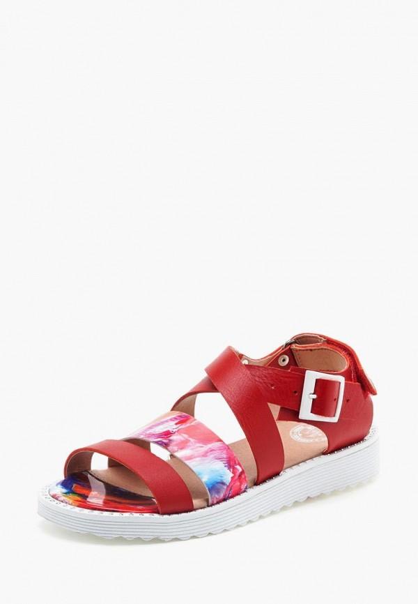 сандалии broni для девочки, красные