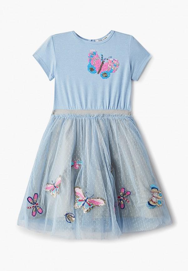 платье zarina для девочки, голубое