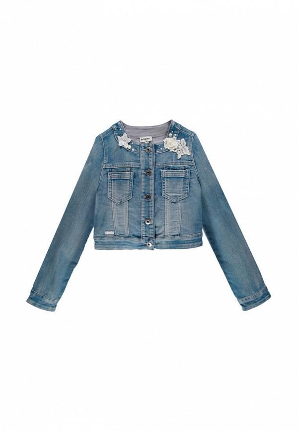 куртка mek для девочки, голубая