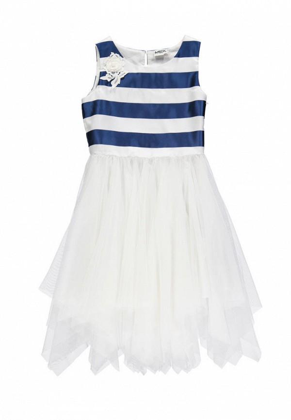 платье mek для девочки, белое