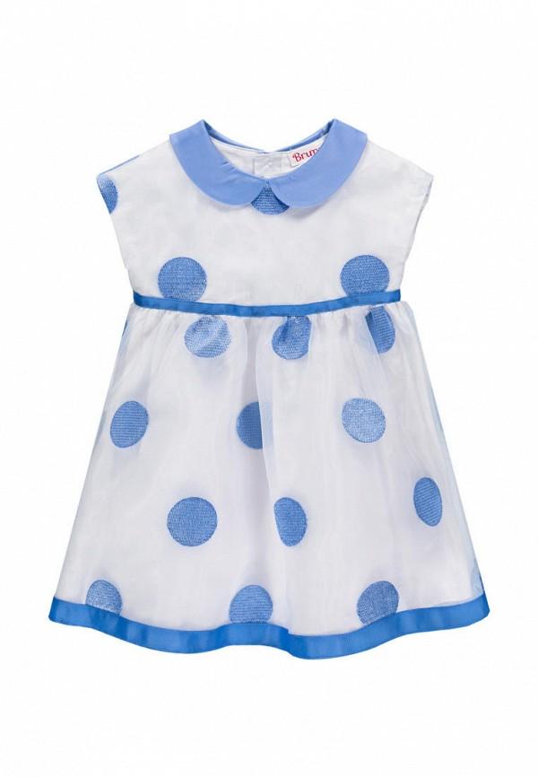 повседневные платье brums для девочки, белое